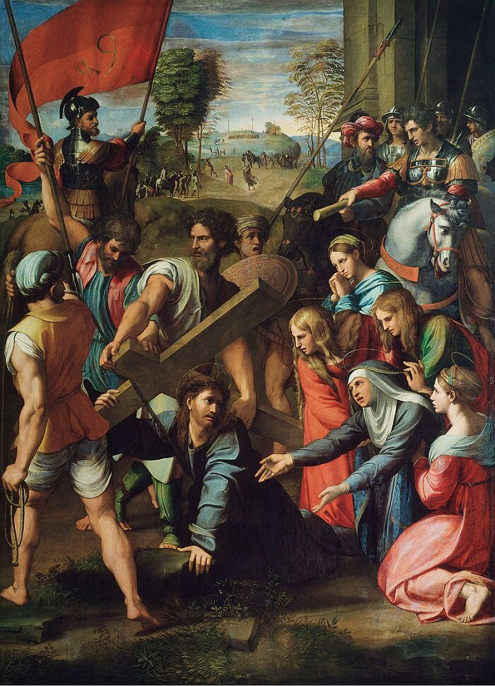Christ Falling on the Way to Calvary - by Raphael