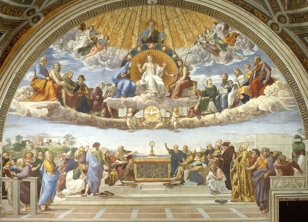 Disputation of the Holy Sacrament - by Raphael