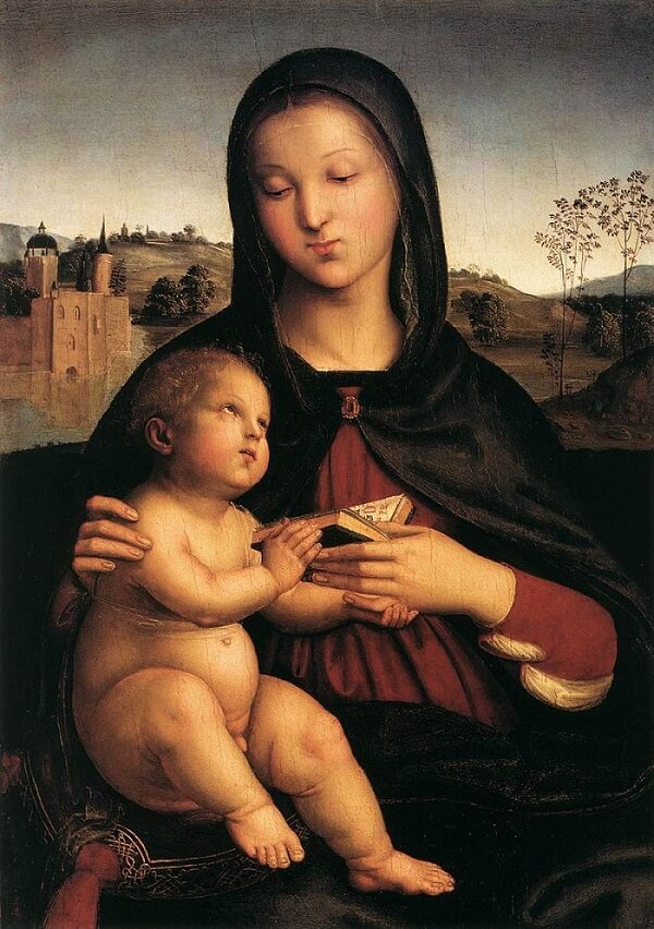 Madonna and Child with the Book - by Raphael