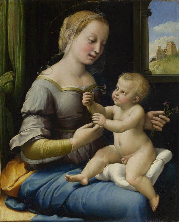 Madonna of the Pinks - by Raphael