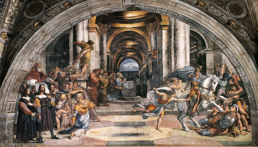 The Expulsion of Heliodorus from the Temple - by Raphael