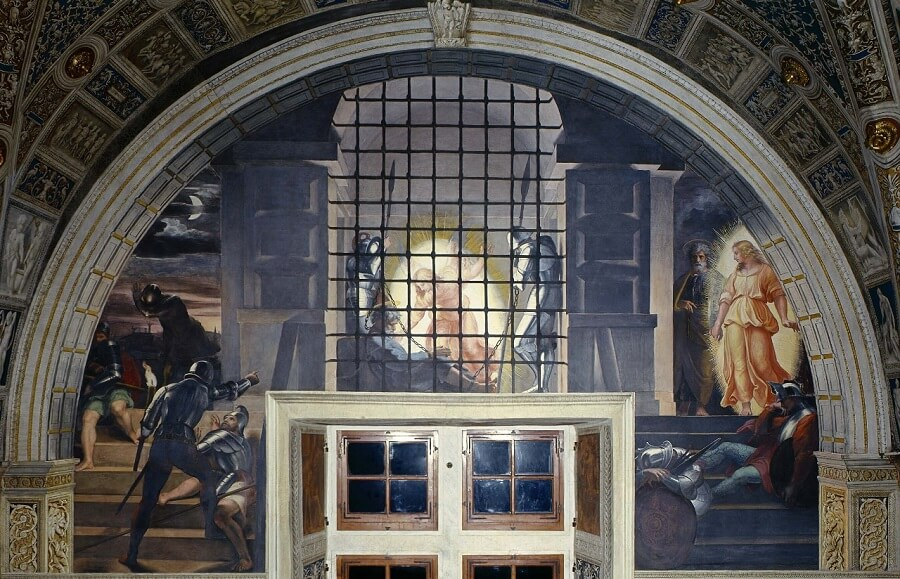 The Liberation of St Peter from Prison - by Raphael