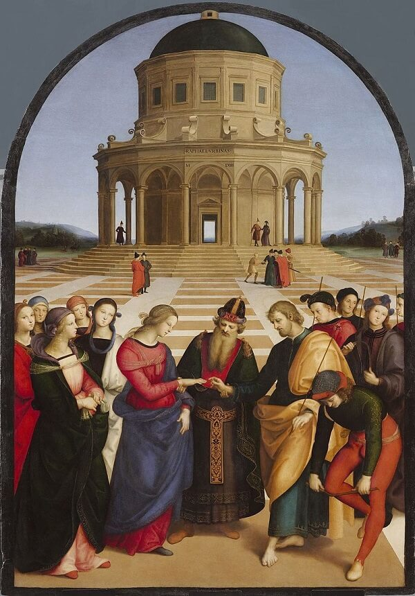 The Marriage of the Virgin - by Raphael