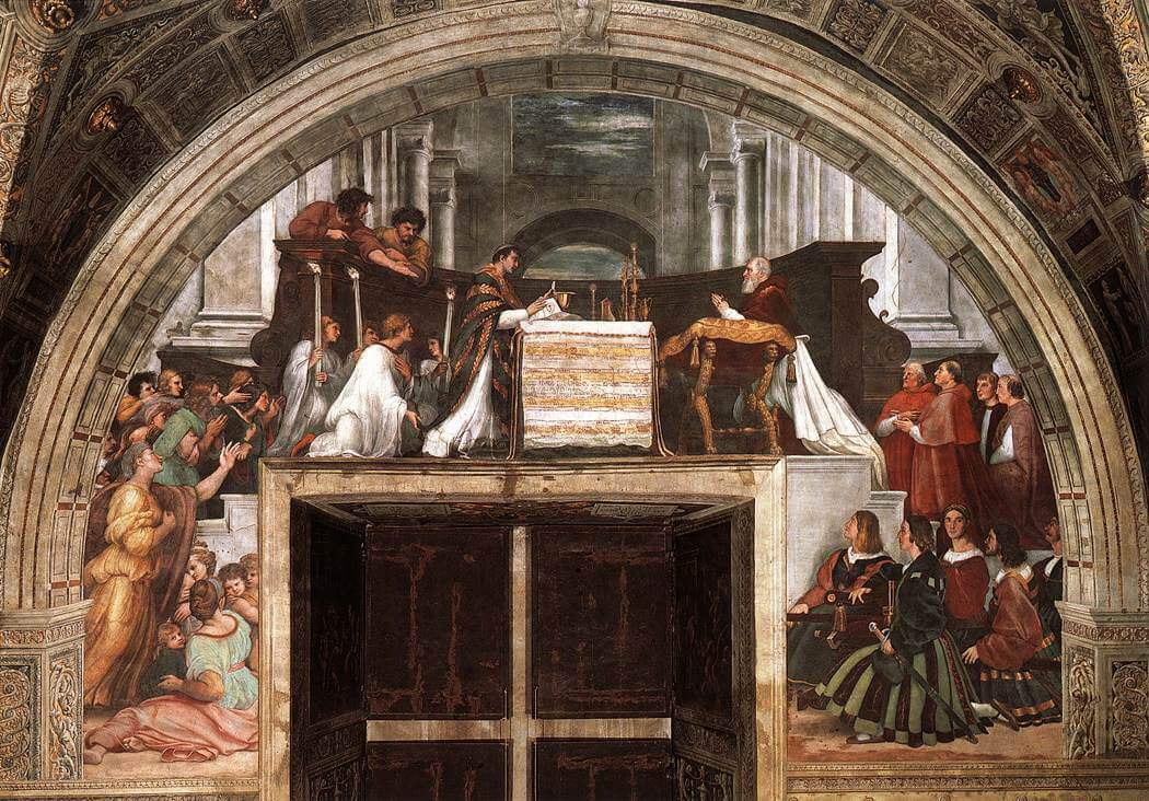 The Mass at Bolsena - by Raphael