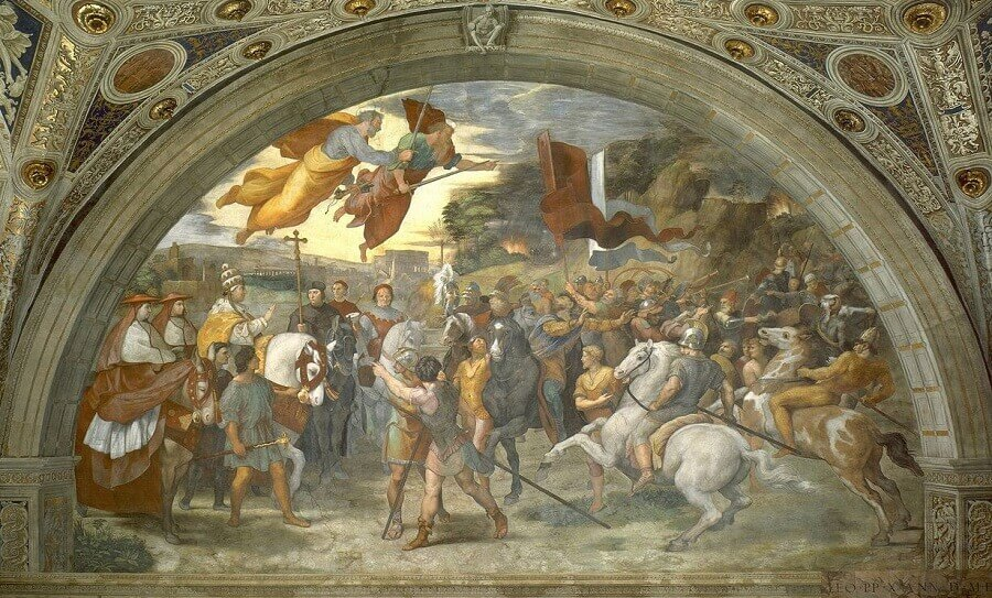 The Meeting of Leo the Great and Attila - by Raphael