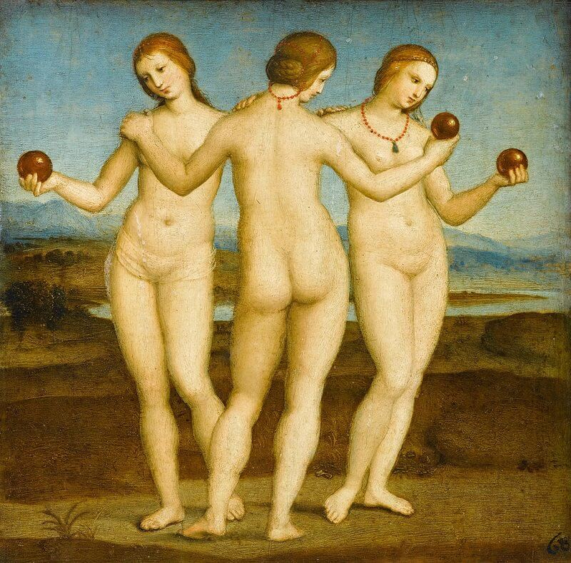 Three Graces - by Raphael